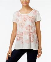 Style&Co. Style & Co. Petite Graphic-Print T-Shirt, Only at Macy's