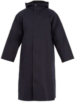 MACKINTOSH Wool-lined bonded-cotton hooded mac