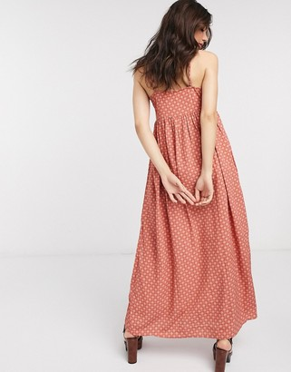 Only cami maxi dress in rust