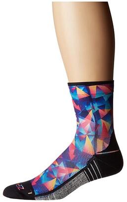 Zensah Limited Edition Socks (Mini Crew) (Retro Triangles) Crew Cut Socks Shoes
