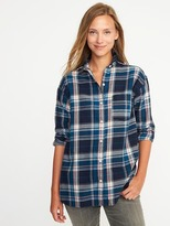 Old Navy Plaid Flannel Boyfriend Shirt for Women