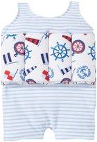 Sunuva Riviera Floatsuit UPF 50+ (Toddler/Kid) - Blue/White - 3-4