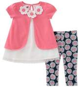 Kids Headquarters Baby Girl's Two-Piece Floral Blouse and Pants Set