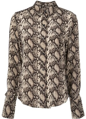 Nili Lotan Snakeskin Pattern Shirt