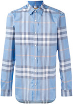 Burberry checked shirt - men - Cotton - XL