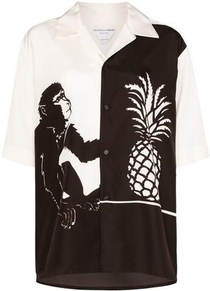 Bottega Veneta Monkey Pineapple Monochrome Shirt