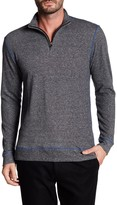 Vintage 1946 Heathered French Terry 1/4 Zip Henley Tee