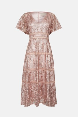 Coast Lace V Neck Midi Dress