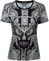 Alexander McQueen engineered paisley print T-shirt