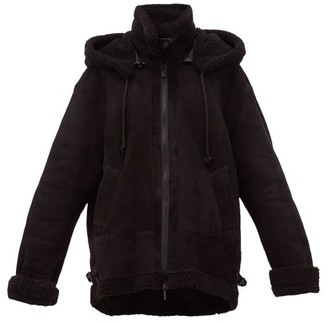 Raey Aviator Shearling Jacket - Womens - Black