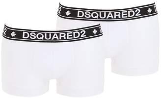 DSQUARED2 Underwear PACK OF 2 LOGO COTTON JERSEY BOXER BRIEF