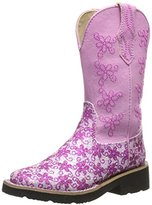 Roper Square Toe Floral Glitter Western Boot (Toddler/Little Kid)