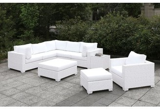 Rosecliff Heights Kuhn 9 Piece Deep Seating Group with Cushions