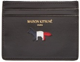 MAISON KITSUNÉ Cut-out logo leather cardholder