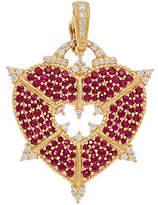 Judith Ripka 14K Gold Gemstone & Diamond HeartEnhancer