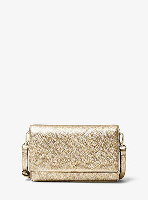 Michael Kors Metallic Pebbled Leather Convertible Crossbody Bag