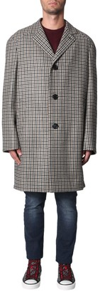 Lanvin Single Breasted Check Pattern Coat
