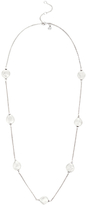 Claudia Bradby Freshwater Pearl Coin Chain Necklace, White