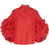 Dice Kayek Ruffled Puff Sleeve Shirt