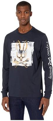 Psycho Bunny Lanyard Long Sleeve T-Shirt (Navy) Men's Clothing