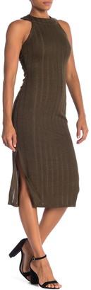 NSR Alisa Sparkle Ribbed Knit Midi Dress