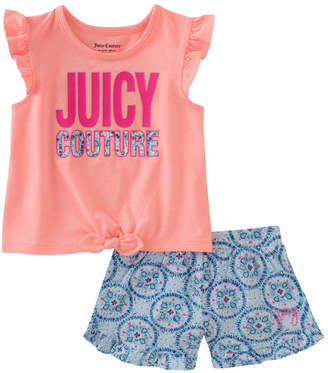 Juicy Couture Flutter Tank Top & Printed Short