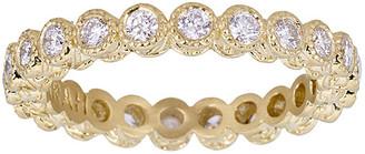Farah Tanya 18K Modern Etruscan White Diamond Stack Ring