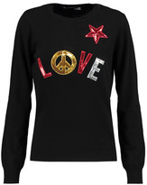 Love Moschino Appliquéd Knitted Sweater