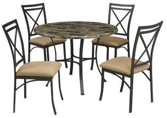 Dorel Living Faux Marble Top Dining Table - Black