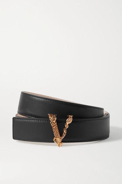 Versace Leather Belt - Black