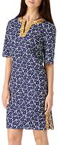 Sugarhill Boutique Bibi Floral Print Tunic Dress, Navy/Mustard