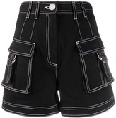 Balmain high waisted denim shorts