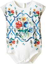 Dolce & Gabbana Escape Maiolica Floral Jersey One-Piece (Infant)