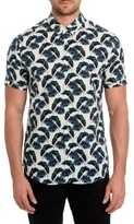 7 Diamonds Men's Lost In Paradise Print Woven Shirt