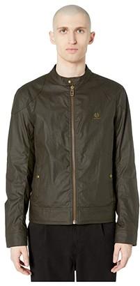 Belstaff Kelland 6 oz Waxed Cotton Jacket (Faded Olive) Men's Clothing
