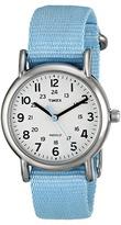 Timex Weekender Pastel Blue Slip Thru Nylon Strap Watch