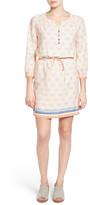 Caslon Print Blouson Dress (Petite)