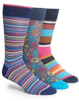 Bugatchi Men's 3-Pack Cotton Blend Socks
