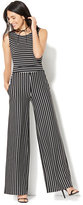 New York & Co. Sleeveless Tie-Back Jumpsuit - Stripe