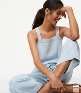 LOFT Chambray Drawstring Jumpsuit