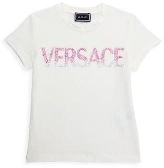 Versace Little Girl's & Girl's Studded Logo T-Shirt