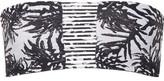 Mikoh Sunset Printed Bandeau Bikini Top - Black