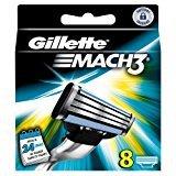 Gillette Mach 3 Razor Refill Cartridges 8 Count