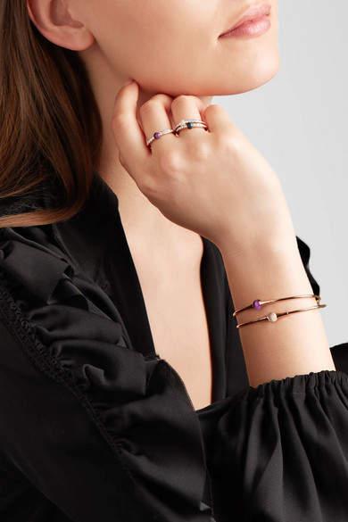 Pomellato M'ama Non M'ama 18-karat Rose Gold, Diamond And Amethyst Ring