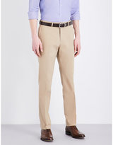 Ralph Lauren Purple Label Knightsbridge slim-fit tapered stretch-cotton trousers
