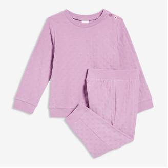 Joe Fresh Baby Girls' 2 Piece Track Suit, Lilac (Size 3-6)