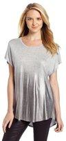 Chaus Women's Dolman Sleeve Spray Foil Top