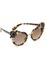 Miu Miu Adorned Sunglasses