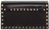 Valentino Black Small Rockstud Clutch