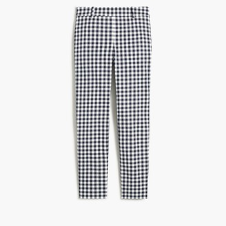 J.Crew Gingham Winnie pant in stretch cotton